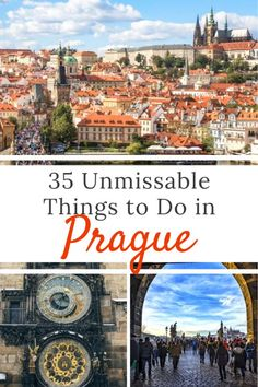 35 of the absolute best things to do in Prague! Don't miss any of these awesome sites in he capital of the Czech Republic with this local's guide to Prague!