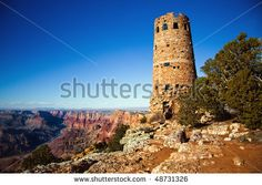 Old Watch Tower at Grand Canyon National Park, Arizona,