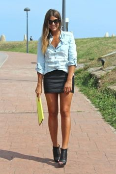 Excellent Ideas To Wear Mini Skirts 08 Urban Fashion, Love Fashion, Fashion Outfits, Trendy Taste, Diy Mode, Just Style, Girly Outfits, Types Of Fashion Styles, Beautiful Outfits