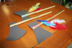 DIY Tomahawks! Too Cute!