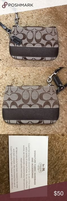 NEW without tags. Authentic Coach wristlet Brown coach wristlet, NWOT!!! Coach Bags Clutches & Wristlets