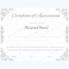 Years Of Service Award   Template And Certificate