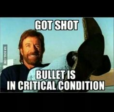 Funny, Chuck Norris.