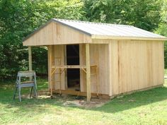 How to Build a 12x20 Cabin on a Budget : 15 Steps (with Pictures) - Instructables Building A Small Cabin, Small Cabin Plans, Shed Building Plans, Diy Shed Plans, House Building, Tiny House Cabin, Tiny Houses, Shed Design, Building Design