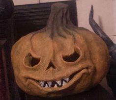Fugly GoE member paper mache pumpkin