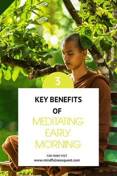 Early morning time is considered to be the best for meditation because at that time there are no disturbances, it is and peaceful, and we are well rested and relaxed after a good night sleep Mindfullness Meditation, Meditation Kids, Morning Meditation, Meditation For Beginners, Meditation Techniques, Daily Meditation, Meditation Benefits, Meditation Practices, Mindfulness Exercises