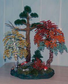 Фестиваль красок (осенний лес) | biser.info - всё о бисере и бисерном творчестве