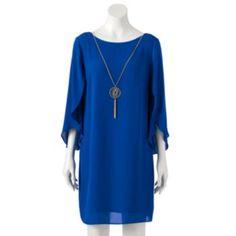 AB Studio Chiffon Necklace Shift Dress - Women's