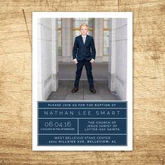 Items similar to LDS Baptism Invitation - Modern Baptism Announcement, digital design, printable baptism announcement on Etsy Baptism Cards, Boy Baptism, Christening, Baptism Ideas, Baptism Invitation For Boys, Baptism Invitations, Invitation Ideas, Invites, Baptism Announcement