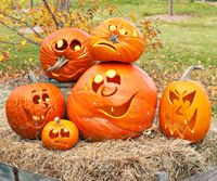 Clever ideas for pumpkin carving