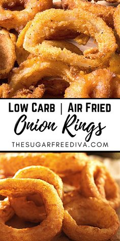 Air Fryer Oven Recipes, Air Frier Recipes, Air Fryer Dinner Recipes, Onion Rings Air Fryer, Air Fryer Recipes Onion Rings, Low Carb Recipes, Cooking Recipes, Cooks Air Fryer, Actifry Recipes