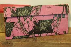 Duct Tape Wallet (Clutch) - Pink Camo, $18.      We are also on Etsy at:  www.junorduck.etsy.com.