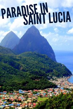 SAINT LUCIA - One of the most beautiful Caribbean islands. With it's iconic Piton mountains St. Lucia is paradise found.