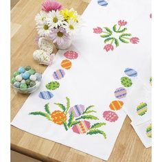 Easter Table Runner Stamped Cross-Stitch