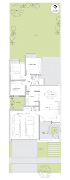 New bath room country modern floor plans ideas Modern Floor Plans, Contemporary House Plans, Modern House Plans, House Floor Plans, Minimalist House Design, Minimalist Home, Floor Plan Layout, Courtyard House, Minimalist Bathroom