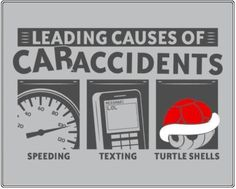 Leading Causes of Car Accidents - Funny Picture