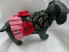 Christmas Candy Cane Ruffled  Harness  Vest  for Dog or Cat Outfit. $14.95, via Etsy.