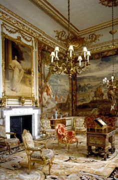 The State Room at Blenheim Palace, birthplace of Sir Winston Churchill