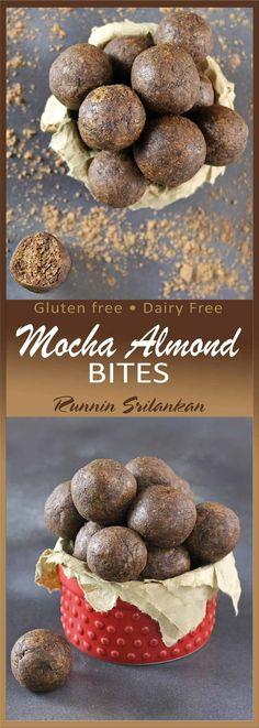 Gluten-Free Mocha Almond Bites Gluten Free Snacks, Dairy Free Recipes, Real Food Recipes, Baking Recipes, Snack Recipes, Dessert Recipes, Diet Recipes, Homemade Desserts, Cookie Desserts