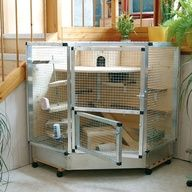 Guinea pig cage with combitech-connect