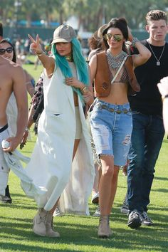 Kendall and Kylie at Coachella 2015