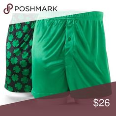 St. Patrick's Day Shamrock Solid Microfiber Boxers Product Details You're in luck. Thanks to their shamrock and solid designs and soft microfiber construction, these men's microfiber knit boxers from Croft & Barrow are the perfect fit for St. Patrick's Day. In green, black.  PRODUCT FEATURES 2-pack Shamrock & solid designs Microfiber Luxuriously soft feel Button fly FIT & SIZING Plush covered elastic waistband FABRIC & CARE Polyester Machine wash Imported Underwear & Socks Boxers