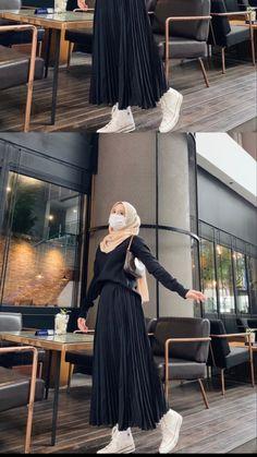 Street Hijab Fashion, Muslim Fashion, Fashion Outfits, Ootd Fashion, Casual Hijab Outfit, Ootd Hijab, Hijab Trends, Hijab Fashion Inspiration, Velvet Fashion