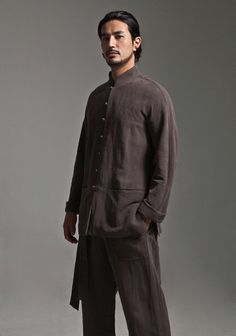 Brown Cotton Linen Kung Fu Suit Clothing http://www.interactchina.com/tailor-shop/