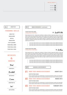 Creative Resume Template  Cover Letter  Ms Word Resume   Page