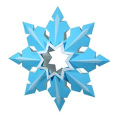 クリスマスオーナメント 雪の結晶B - クリスマス - パーティー&イベント - ペーパークラフトキヤノン クリエイティブパーク
