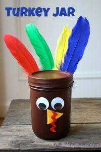 Mason Jar Turkey Craft