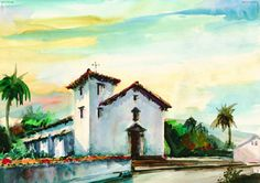 Mission San Jose (Fremont, CA), pinned from californiamissionprints.com