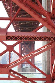 Golden Gate Bridge View Underneath Unique by CatapanoPhotography, $37.50