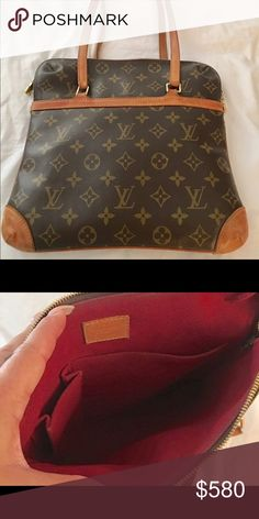 Louis Vuitton Sac Coussin Bag Authentic LV shoulder bag, reddish suede inside of bag and outside pocket, bag is in great condition. Approx 10.5 w x 10 h x handle drop is approx 9in. No tears, no stains, no scratches. Sorry no dust bag. Zippers function perfectly fine.   Note this beautiful bag is gently used and has minor wear on patina see all pictures. I will ship same day :-)   Date code: SD0064 Louis Vuitton Bags Shoulder Bags
