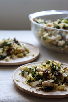 edible perspective - Home - millet salad with sun-dried tomatoes, kale, and beans