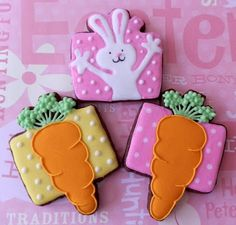 Easter Cookies made with present cutter