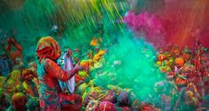 Holli Festival - Hindus in/out of India celebrate the Festival of Colours only between the months between March and April. It is to celebrate the Hindu religious defeat of evil by God. It is also to thank God and celebrate the arrival of Spring - the Harvest season. India - the Land of Colours!