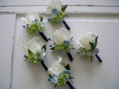 small hydrangea and rose bridesmaids bouquets - Google Search