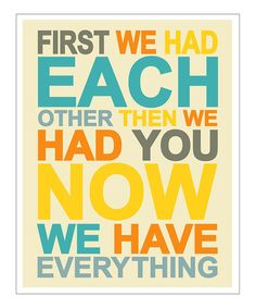 Take a look at this Yellow & Blue 'First We Had' Giclée Print by Finny and Zook on #zulily today!
