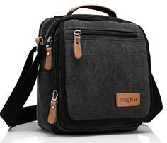 Ibagbar Durable Vintage Multifunction Canvas Shoulder Bag Business Messenger Bag Ipad Bag Tote Bag Satchel Bag for Men and Women Black -- Find out more about the great product at the image link. Vintage Messenger Bag, Canvas Messenger Bag, Messenger Bag Men, Mens Travel Bag, Travel Purse, Canvas Shoulder Bag, Small Shoulder Bag, Satchel Bags For Men, Tote Bags