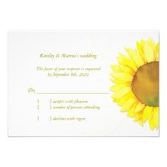 ShoppingModern Watercolor Sunflower Wedding Reply (3.5x5) Invitationtoday price drop and special promotion. Get The best buy