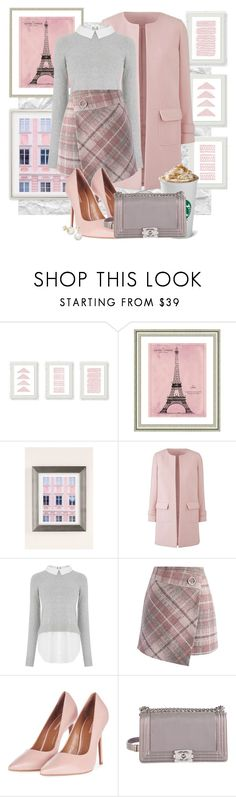 """""""93. Pink & Grey"""" by giusysal ❤ liked on Polyvore featuring Vintage Print Gallery, Urban Outfitters, Oasis, Chicwish, Topshop, Chanel and Kate Spade"""
