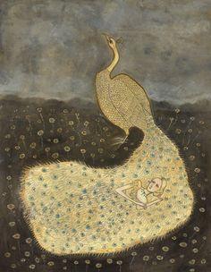 """{""""Peacock Dream"""" Original Illustration}"""