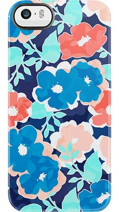 """""""Nectar Blooms"""" by Uncommon for the iPhone 5/5s Black Bezel Deflector"""