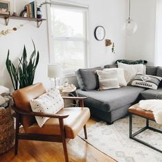 Accent Chairs For Living Room, Boho Living Room, Living Room Grey, Home And Living, Living Room Furniture, Living Room Ideas With Grey Couch, Modern Accent Chairs, Small Couches Living Room, Modern Furniture