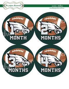 Philadelphia Eagles Onesie Stickers