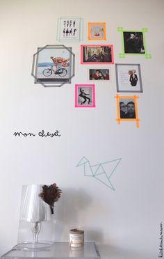 Mon nouveau chevet #washitape #wall #washi
