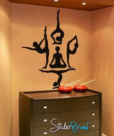 Vinyl Wall Decal Sticker Yoga Silhouette item by Stickerbrand, $29.95