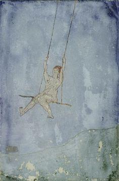 Paul Klee ~ Swinging, 1906