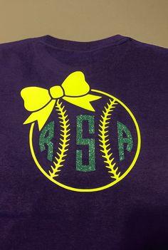 Softball Monogram Shirt by SimplySouthernMom on Etsy